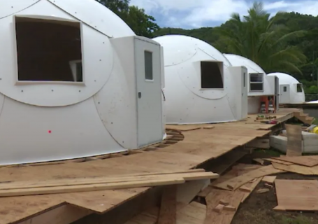 The state's first igloo dome shelters open to help Hawaii's homeless