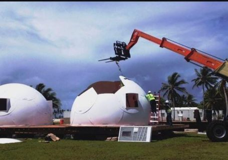 Church sees cheap, igloo-like domes as answer to homelessness