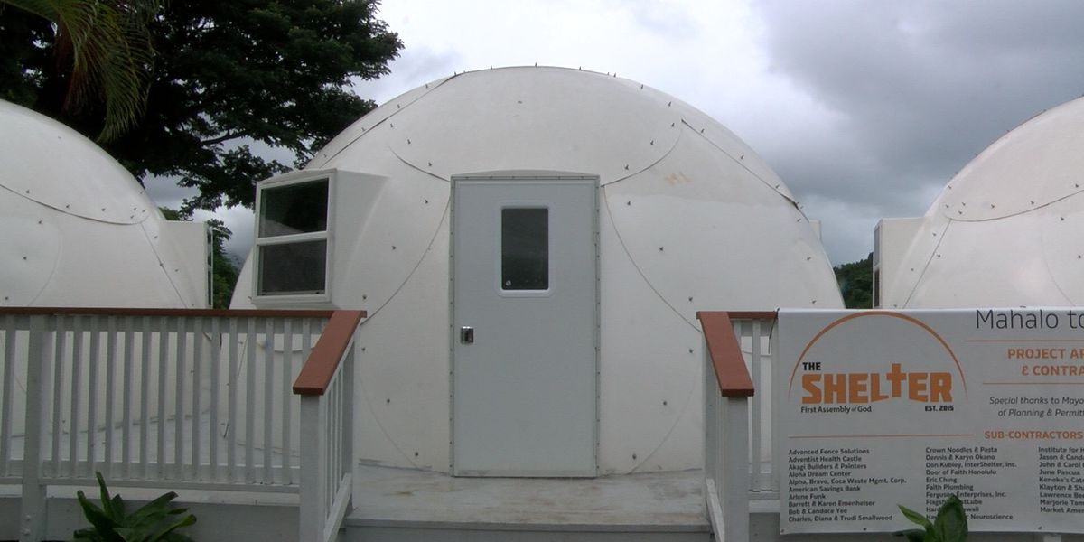 Kaneohe church's igloo-like dome shelters to house homeless families